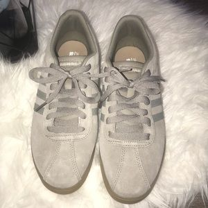 Adidas Sneakers- grey suede- worn once- Sz 8.5